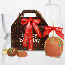 birthday baskets happy birthday candy apples gourmet birthday baskets