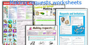 english teaching worksheets making requests