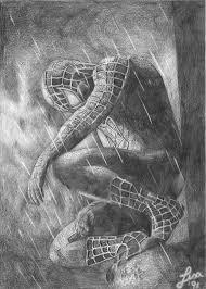 spiderman black white littlesaha deviantart