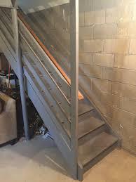 staircase remodel diy basement stair transformation u2014 revival