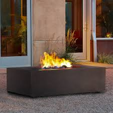 real flame t9650ng kb baltic rectangle natural gas fire table in