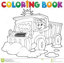 coloring book snow plough royalty free stock photo image 34545675