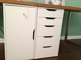 White Wood Lateral File Cabinet by Diy Computer Desk With File Cabinet Best Home Furniture Decoration