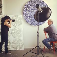 Looking For A Artist Brian Huber Abstract Artist Today In The Studio Photo Shoot By