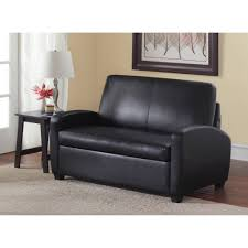 Futon Or Sleeper Sofa Mainstays 54 Loveseat Sleeper Black Walmart