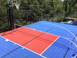 Backyard Tennis Court Cost Outdoor Basketball Court Flooring Ultrabasesystems