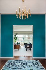 cheryl burke interior design incredible foyer with teal wall