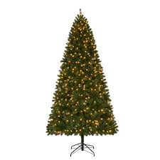 9 foot christmas tree home accents 9 ft pre lit led wesley spruce artificial