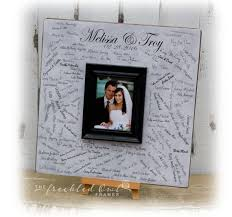 wedding guest book picture frame wedding guest book alternative wedding sign decoration