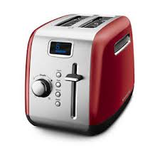 Stainless Toaster 2 Slice Kitchenaid Kmt222er 2 Slice Red Digital Stainless Steel Toaster