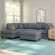 Sofa Sectional Andover Mills Hemphill Reversible Sectional With Ottoman Reviews