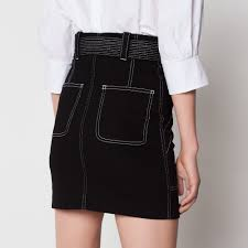 high waisted skirt high waisted skirt with visible seams skirts sandro