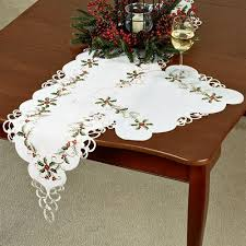 Coffee Table Linens by Boughs Of Holly Cutwork Holiday Table Linens