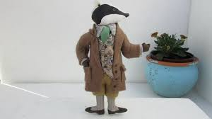 gladys boalt vintage ornament badger wind in the willows signed