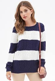 forever 21 cable knit striped sweater where to buy how to wear