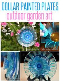 painted plates garden art flower art pretty flowers and dollar