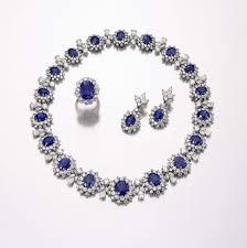 sapphire necklace set images Diamond sapphire necklace collection jpg