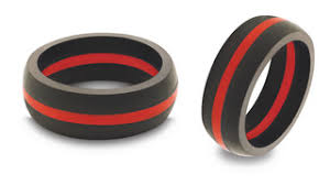 rubber wedding rings qalo firefighter wedding band rubber company and product info