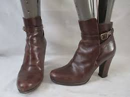 s heeled ankle boots uk hobbs brown leather pull on heeled ankle boots uk 5 eu 38