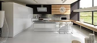 cuisine moderne blanc cuisine equipee blanc laquee mineral bio
