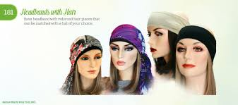 chemo hats with hair attached headbands with hair active women s headwear hats for you