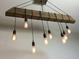 rustic beam light fixture custom made reclaimed barn beam light fixture bar restaurant home