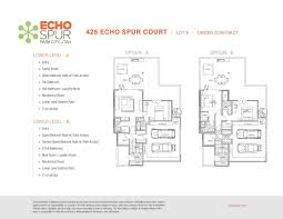 echo spur park city utah floorplans