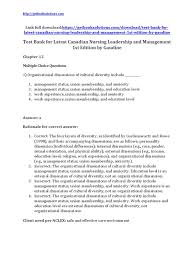 test bank for latest canadian nursing leadership and management