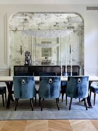 Blue Dining Room Chairs by Dining Room Blue Upholstered Chair With Stylish Shape Dining