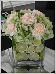 Flower Design Course Pale Peach Black U0026 Lots Of Limes A Real Wedding Flower Lights