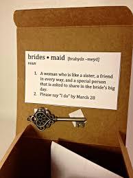 bridesmaids invitation boxes diy wedding bridesmaid boxes key box and wedding