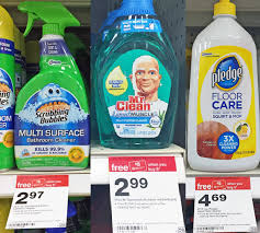 Mr Clean Bathroom Cleaner Only 0 98 Pledge Floor Cleaner Scrubbing Bubbles Mr Clean