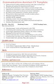 Communication Skills On Resume Sample by Communications Assistant Cv Template Tips And Download U2013 Cv Plaza