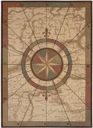 Shaw Living Medallion Area Rug Coastal Map U0026 Compass Nautical Voyages Area Rug By Kathy Ireland