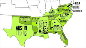 Southeast United States Map by Map Of Southeast Usa With Capitals Endearing Enchanting