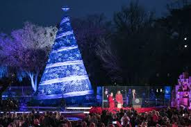 christmas trees and lights president trump and first lady light christmas tree donald trump