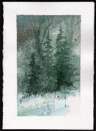 love these card and a gift hand painted watercolor christmas
