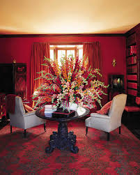 Black And White Homes With Accent Red Red Rooms Martha Stewart