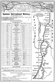 Map Of Spokane Washington The Spokane International Railroad