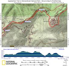 Appalachian Trail Map Virginia by At In Snp Browns Gap To Pinefield Gap