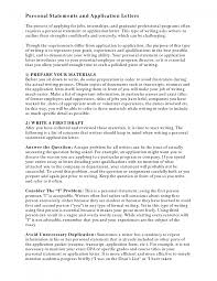 cover letter examples of personal statements for resumes examples