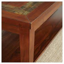 hardwood 10 inch chairside end table davenport chairside end table medium cherry steve silver target