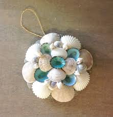 shell mirror ornament seashell christmas ornaments christmas