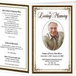 free funeral program template microsoft word passed free inside