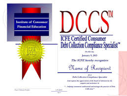 printable version of fdcpa the icfe certified consumer debt collection compliance specialist