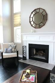 brick fireplace makeover stone veneer how cover ugly tile opening