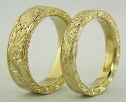 gold bands golden scrolls engraved bands bijoux extraordinaire