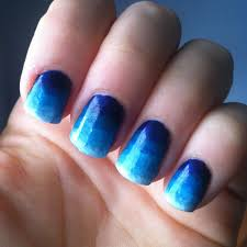 blue fingernail designs how you can do it at home pictures