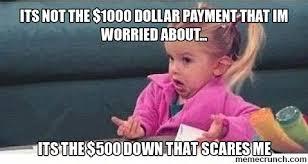 Meme Down - payment meme