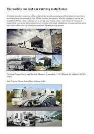 the world u0027s ten best car carrying motorhomes by quaintfuzz9950 issuu